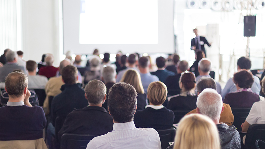 Seminar with people